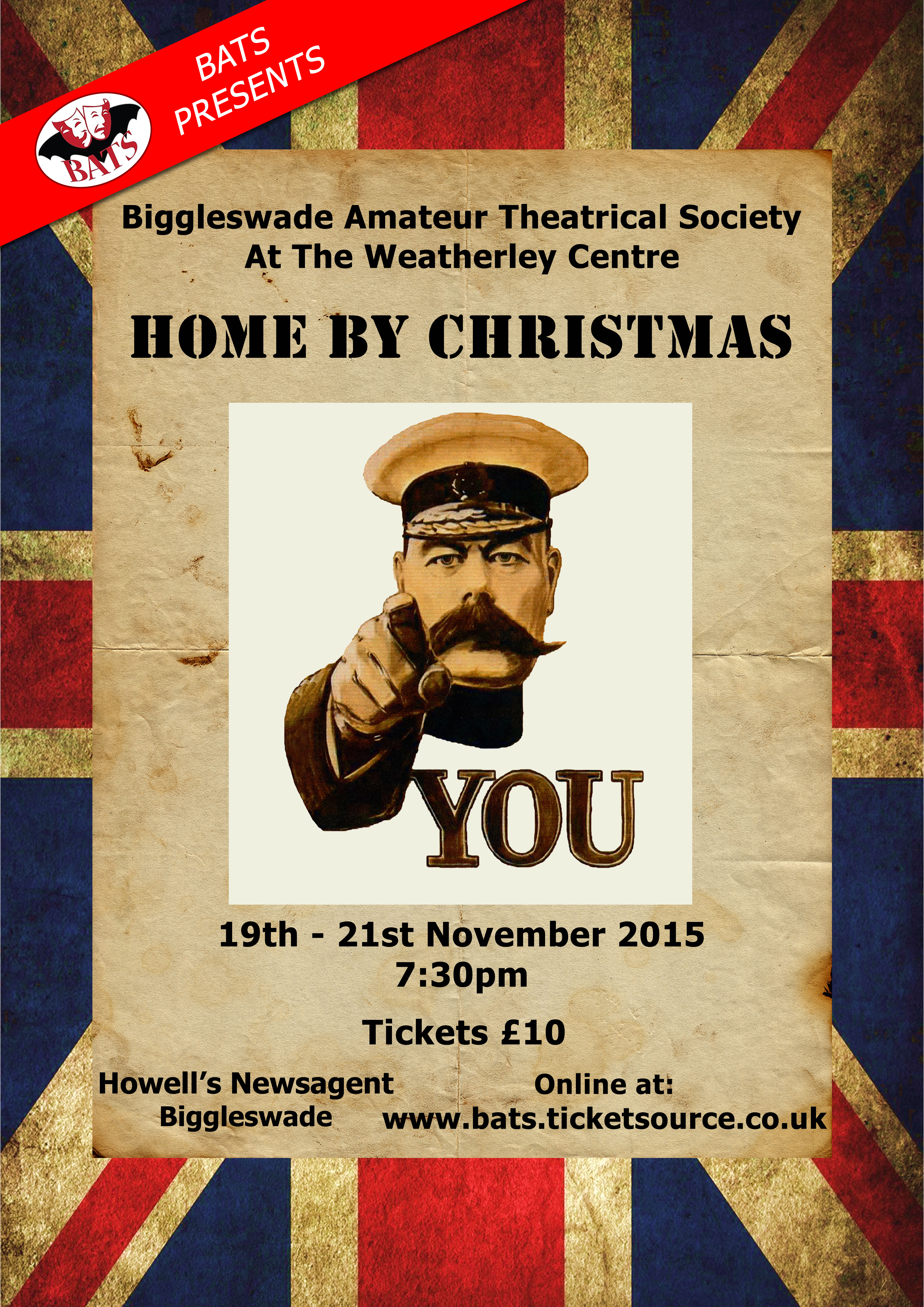 Home By Christmas.Home By Christmas Bats Theatre Group